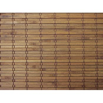 Cordless Woven Wood Roman Shades, 24W x 36H, Eastfield Teak, Sizes 20-72 Wide and 24-72 High