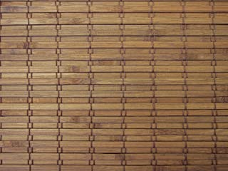 Cordless Woven Wood Roman Shades, 70W x 60H, Eastfield Teak, Any Size 20-72 Wide and 24-72 High