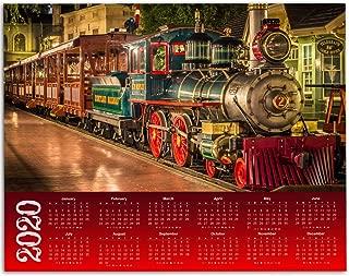 2020 Calendar - Disneyland Railroad - 11x14 Unframed Calendar Art Print - Great Gift to Disney Fans, Also Makes a Great Gift Under $10