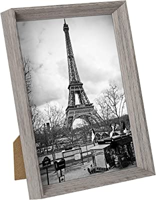 upsimples 5x7 Picture Frames with High Definition Glass,Rustic Photo Frames for Wall or Tabletop Display,Set of 1