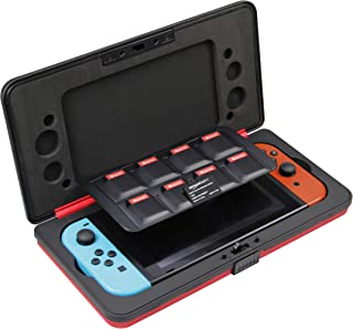 AmazonBasics Vault Case for Nintendo Switch And 8 Games - 10.5 x 5.5 x 2 Inches, Red