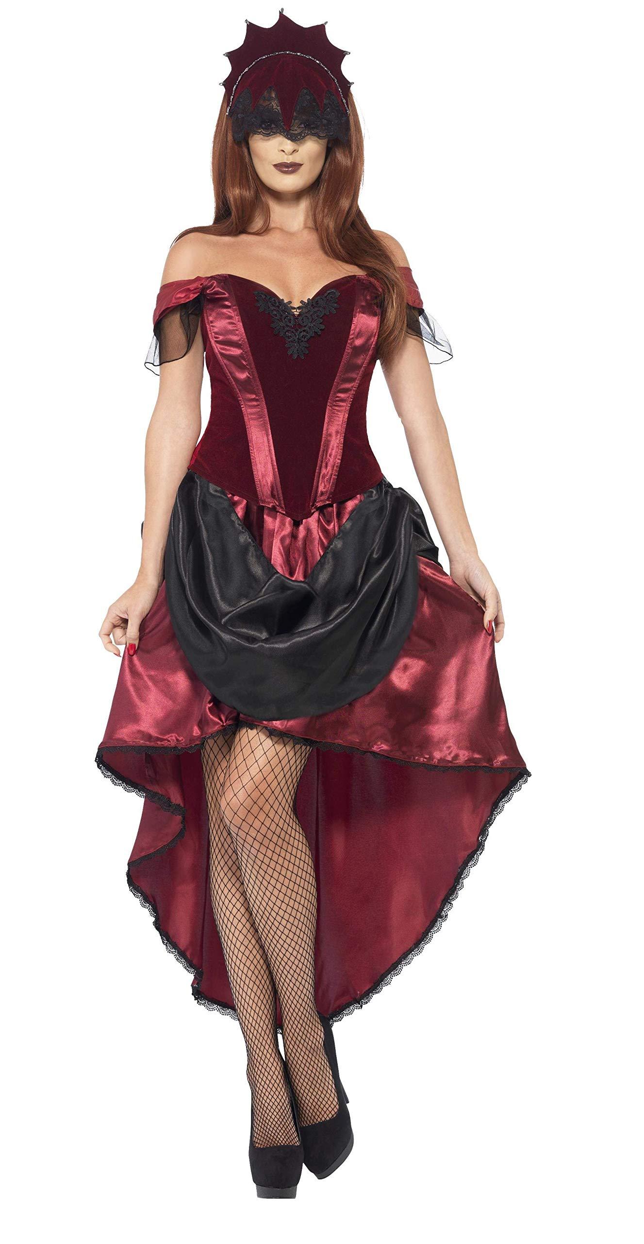 Smiffys-43743M Disfraz de vampiresa Veneciana, con Parte de Arriba ...