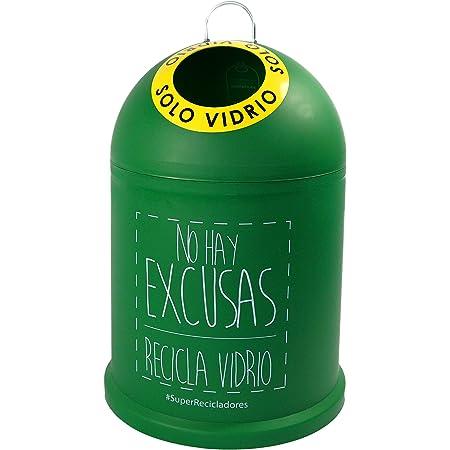 Miniglu Mini, Contenedor para Reciclaje de Vidrio, 45 x 29 x 29 cm, Verde