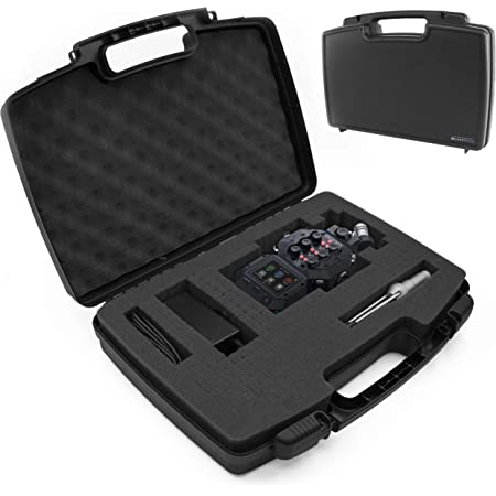 CASEMATIX Travel Case Compatible with Zoom H8 Handy Recorder - Hard Shell Carrier for Audio Recorder and Accessories with Customizable Foam Interior, Padlock Rings & Accessory Storage - CASE ONLY