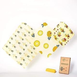 Vatum Bienenwachstücher für Lebensmittel – 3er Set aus Bio-Baumwolle – Die..