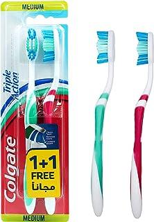 Colgate Tooth Brush Triple Action Medium, 1Plus1 Multiple color