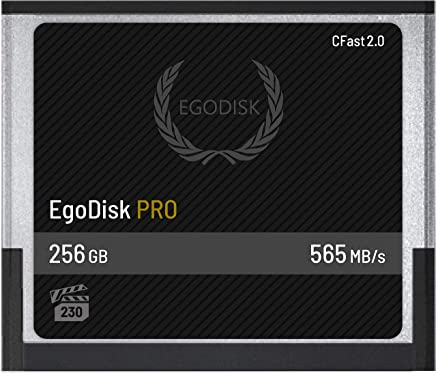 EgoDisk PRO 256GB CFast 2.0 Card - (BLACKMAGIC DESIGN URSA MINI 4K • 4.6K | CANON • XC10 • XC15 • 1DX MARK II • C200 | HASSELBLAD H6D-50C • H6D-100C | ATOMOS | PHANTOM VEO S) - 3 Year Warranty