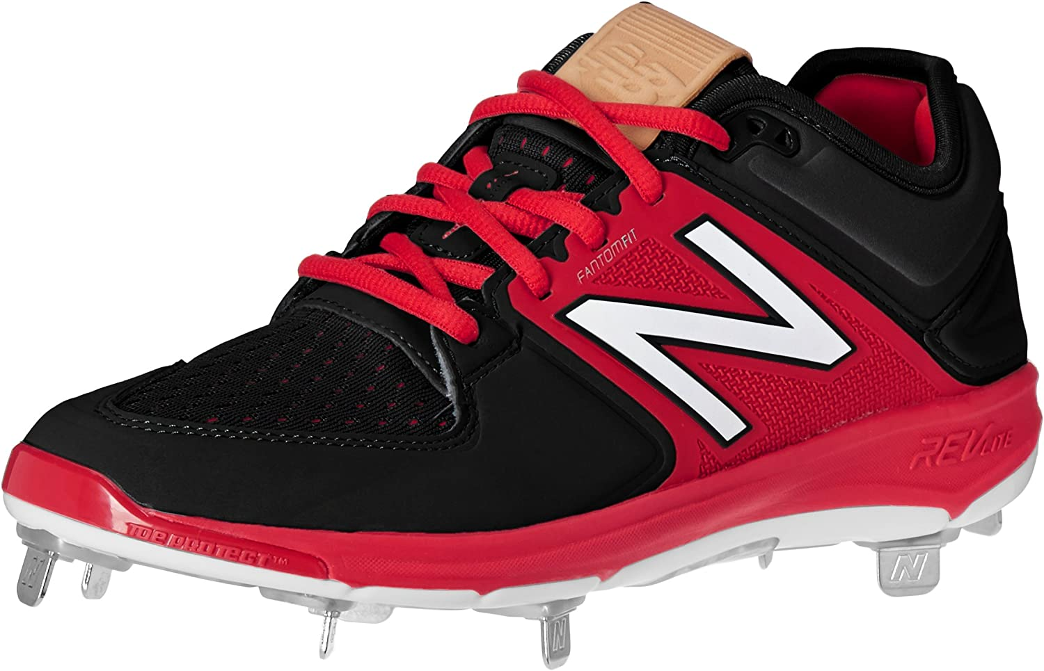 New Balance Men's L3000v3 Metal Baseball schuhe, schwarz rot, 8.5 2E US