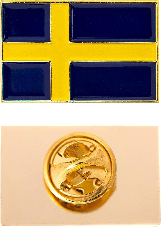Desert Cactus Sweden Country Flag Lapel Enamel Made of Metal Souvenir Hat Men Women Patriotic (Rectangle Pin)