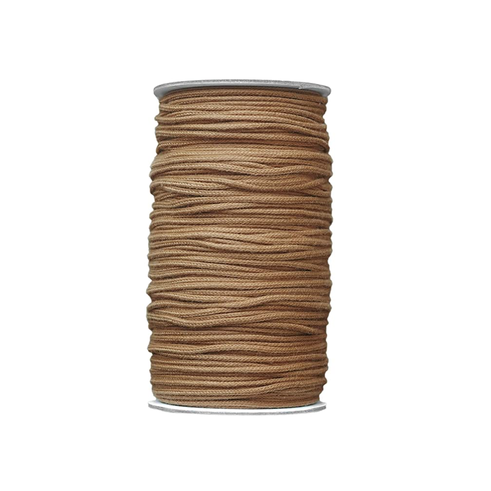 Braided Cotton Rope,Macrame Cord Rope DIY Craft Macrame Woven String Home Textile Accessories Craft Gift(Peru, 2.5mm x 100m(About 109 yd))