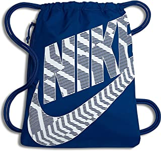 6dd16efde1 NIKE Heritage Drawstring Gymsack Backpack 400 Denier Sport Bookbag (Blue  Jay Flight White Graphics