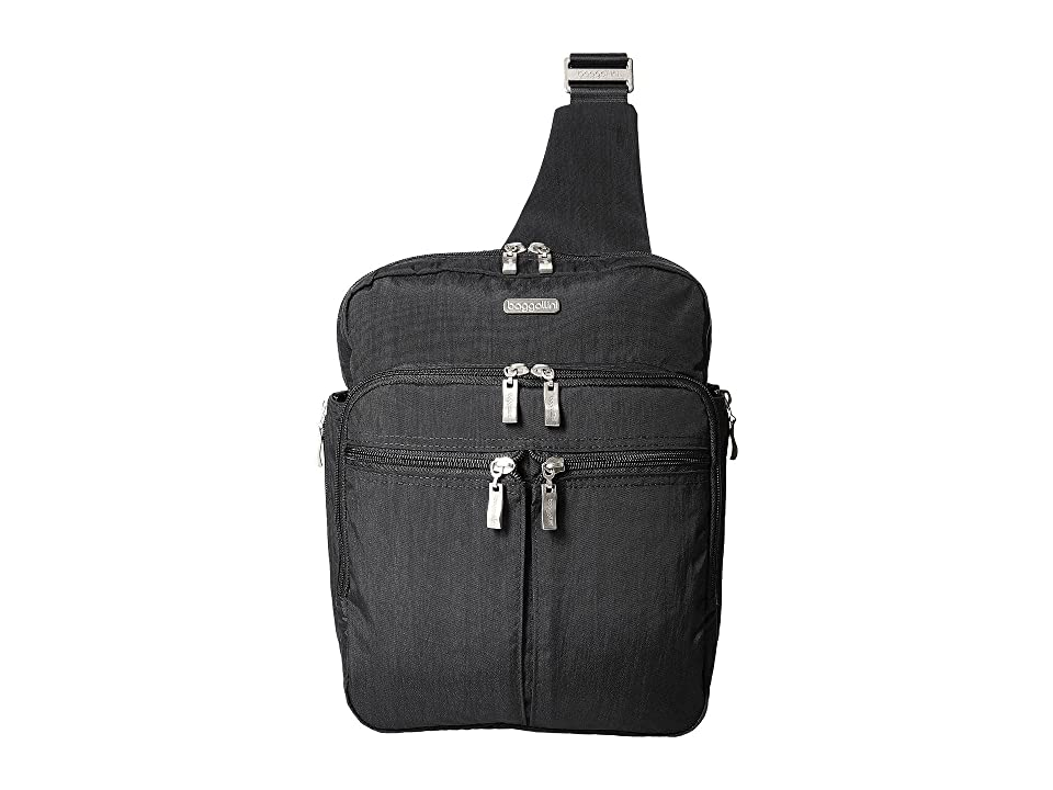 Baggallini Messenger Bag with RFID Wristlet (Charcoal) Bags