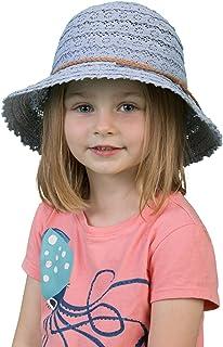 Funky Junque UPF50+ Children's Kids Crochet Lace Braided Rope Bucket Sun Hat