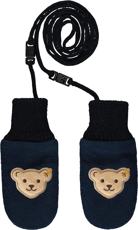 Steiff Baby-Jungen Mit S/ü/ßer teddyb/ärapplikation Babyf/äustlinge