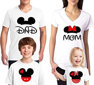 12b2f0cd33ab Natural Underwear Mouse Family Trip Men Women Kids Boys T-Shirts