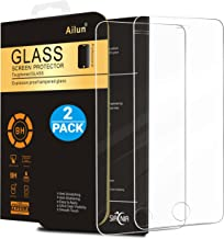 Ailun Screen Protector Compatible iPhone 5S iPhone Se iPhone 5 iPhone 5C 2 Pack 2.5D Edge Tempered Glass Compatible iPhone 5 5S 5C Se Anti-Scratch Case Friendly Siania Retail Package