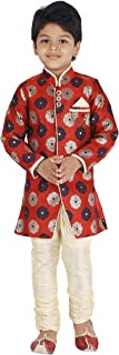 Kids Indian Ethnic Bollywood Style Festive and Party Wear Sherwani and Breeches Set for Boys