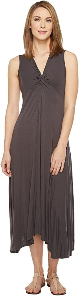 Rayon Spandex Slub Jersey Twist Front Tank Dress