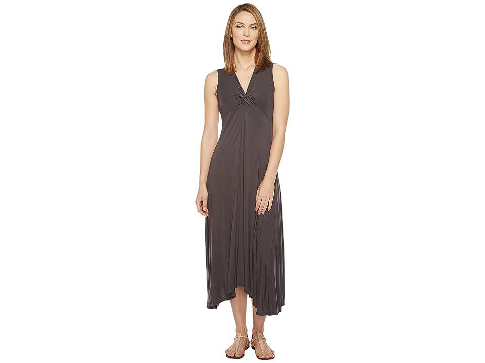 Mod-o-doc Rayon Spandex Slub Jersey Twist Front Tank Dress (Dark Nickel) Women