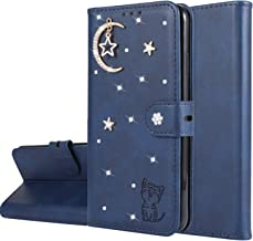 Miagon Diamond Wallet Case for iPhone Xs Max 3D Moon Star Cat Design PU Leather Flip Magnetic Closure Card Slots Stand Shockproof Full Protective Cover Blue Estimated Price : £ 6,29