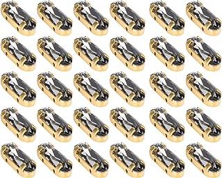 Geen vervagende 5x15mm verfraaiende ovale steentjes, glassteentjes, DIY-ambachten voor nagelkunstdecoratie(Transparent Black)