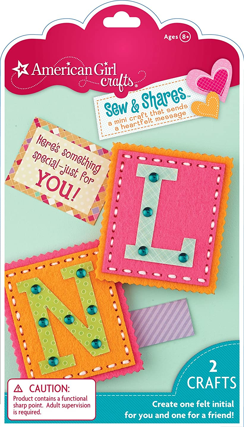 EK Success American Girl Crafts Sew and Shares, Initials