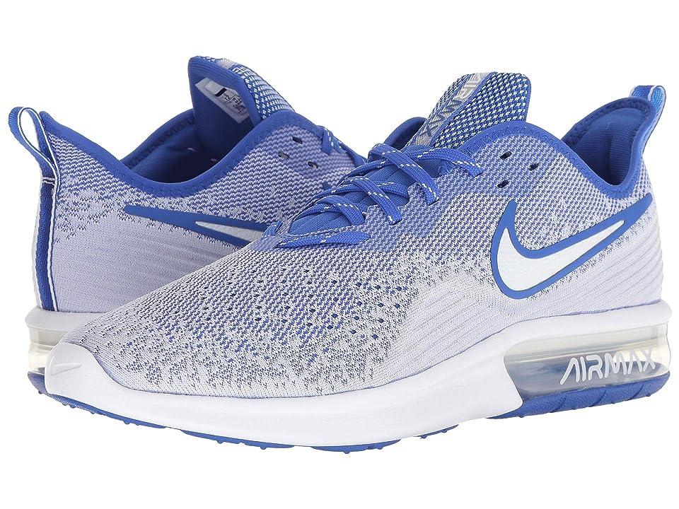 Nike Air Max Sequent 4 (White/White/Hyper Royal) Men