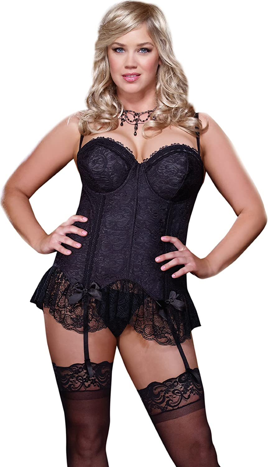 Indefinitely Dreamgirl Women's Plus Queen Size Beautiful Love is quality assurance Corset