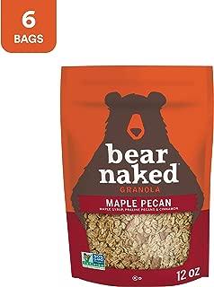 Bear Naked Maple Pecan Granola - Non-GMO | Kosher | Whole Grains - 12 Oz (Pack of 6)