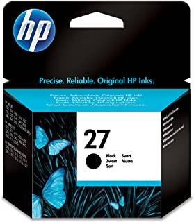 HP 27 Black Original Ink Advantage Cartridge - C8727AE
