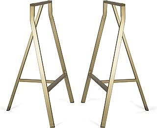 metal sawhorse table