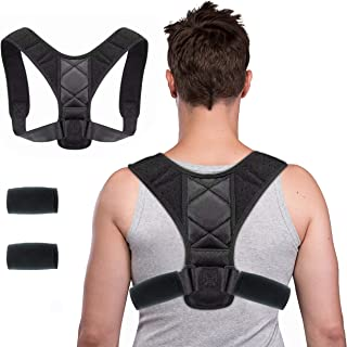 WORLD-BIO Posture Corrector,iUpcoot Upper Back Posture Corrector Comfortable Adjustable Posture Support for Clavicle,Invis...