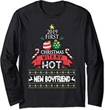 2019 First Christmas With My Hot New Boyfriend Merry Xmas Long Sleeve T-Shirt