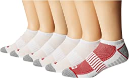 6-Pack Pique Foot Athletic Socks