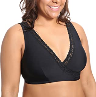DELIMIRA Women's Soft Cup Sleep Comfort Support Plus Size Nursing Bra