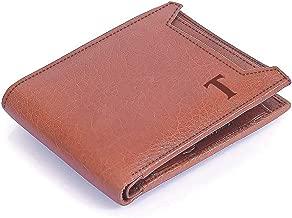 MUFUBU Presents Tesoro Italy Men's Genuine Leather Wallet RFID Safe Tuscany Brown Detachable Card Pocket, Coin Pocket & Cash (Gift Box)