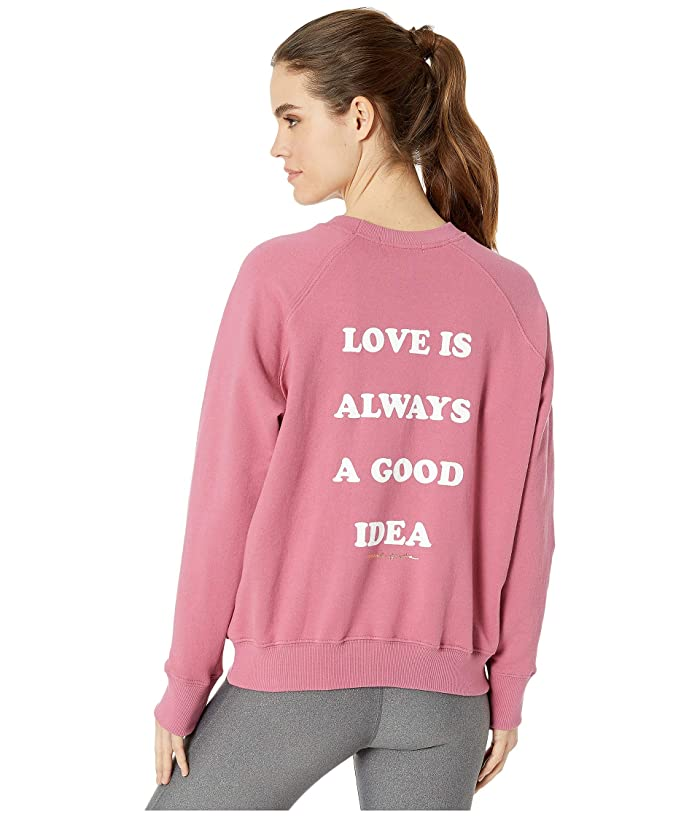 Sweatshirt that says 'Love is always a good idea'