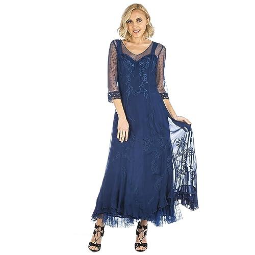 372ba890532 Nataya Women s Celine True Romance Vintage Style Wedding Dress In Royal Blue