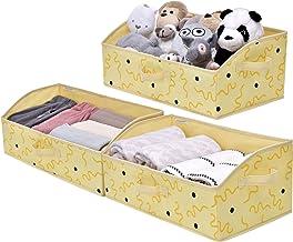 StorageWorks Closet Baskets, Canvas Baskets for Closet Shelves, Foldable Trapezoid Storage Bins with 3 Handles, Hand Wash,...