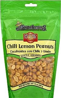 Munchero's Chili Lemon Peanuts, Gluten Free, 14-Ounces, 5-Pack