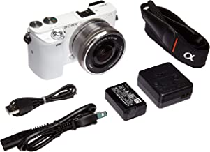 Sony Alpha a6000 Mirrorless Digital Camera with 16-50 mm Lens, 24 MP (White) (Renewed)