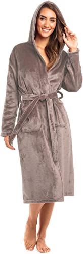 high quality Thread Republic Spa outlet online sale Collection Plush Fleece Robe w/Hood Luxurious Warm high quality Bathrobe outlet sale