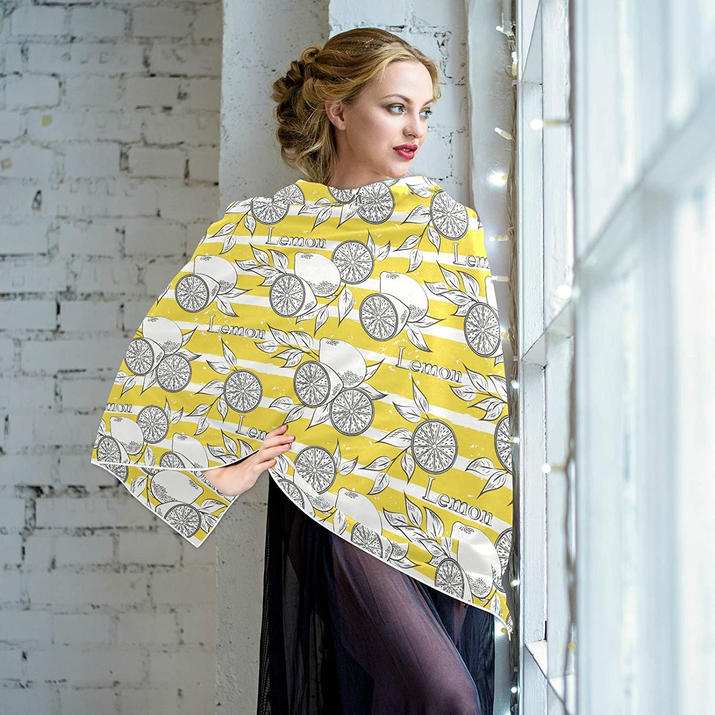 Scarf for Women and Men Fruits Lemon Pattern Stripe Shawls Blanket Scarf wraps Warm soft Winter Oversized Scarves Lightweight