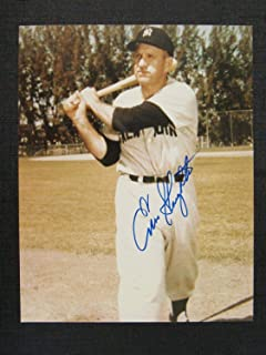 Signed Enos Slaughter Photo - 8x10 IV - Autographed MLB Photos
