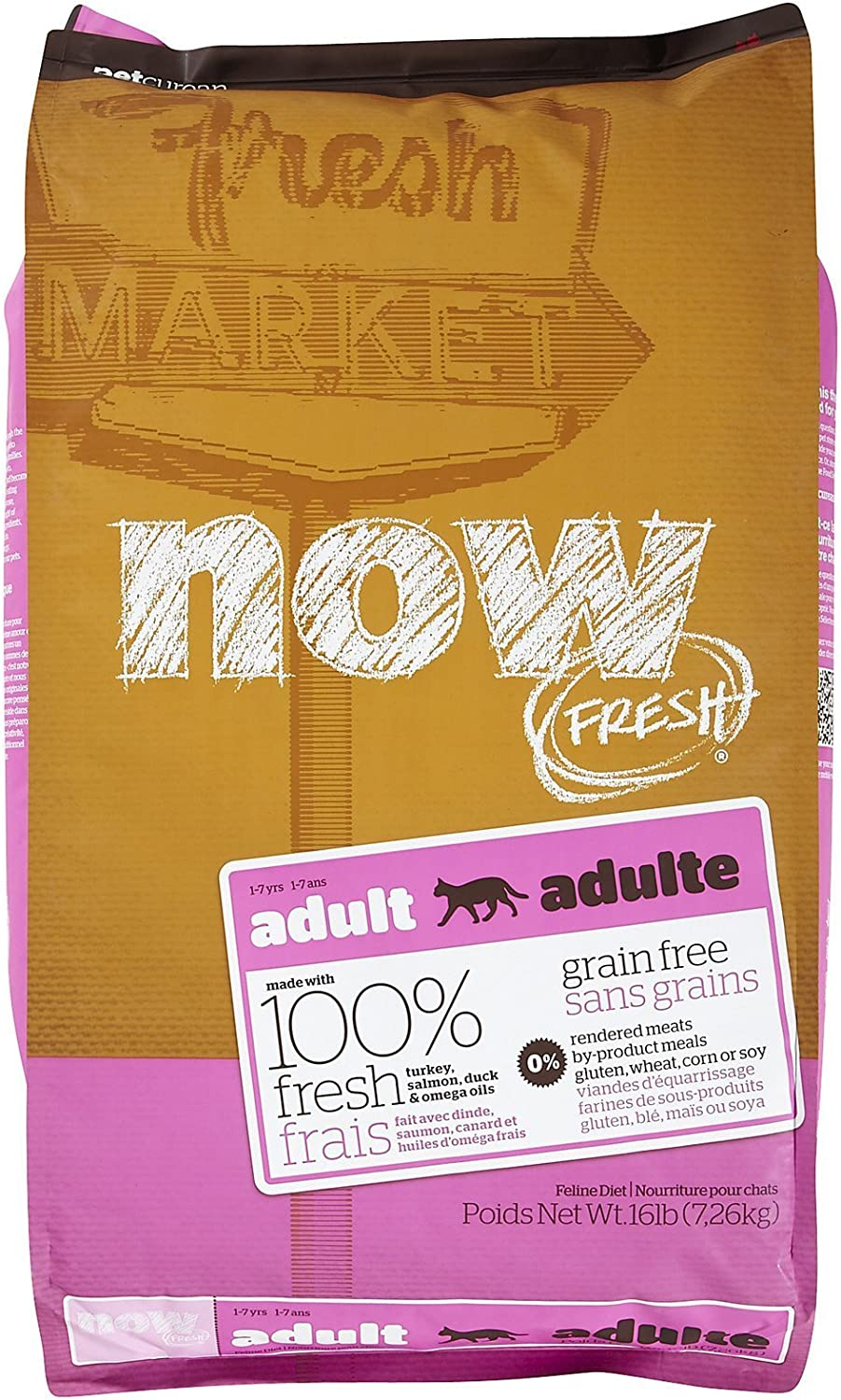 NOW  152320 Fresh Grain Free Food for Adult Cats, 16Pound Bag