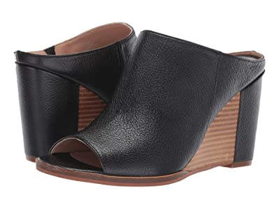 LINEA Paolo Gaia Wedge Heel (Black Grainy Goat Leather) Women