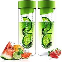 Asobu Revolutionary Glass Sport Water Bottle Fruit Infuser Naturally Flavored Water 20 Oz (2 Pack) …