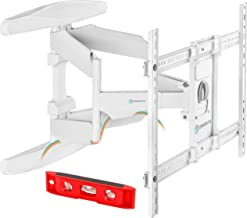 ONKRON TV Mount Articulating Heavy-Duty Bracket for 42 to 70 Inch LCD LED Flat Screen TVs Full Motion VESA up to 600 x 400 mm White (M6L)