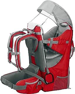 Mochila portabebé ergonómica acolchada, protección solar, cinturón, senderismo, ciudad rojo
