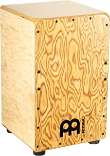 Meinl Cajon Box Drum with Internal Strings for Snare Effect - NOT MADE IN CHINA - Makah-Burl Frontplate / Baltic Birch Body, Woodcraft Professional, 2-YEAR WARRANTY (WCP100MB)